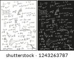 physical formulas white and... | Shutterstock .eps vector #1243263787