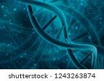 3d render of dna structure ...   Shutterstock . vector #1243263874