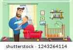vector cartoon illustration... | Shutterstock .eps vector #1243264114