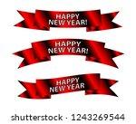 set of new year banner ribbons... | Shutterstock .eps vector #1243269544
