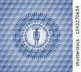 girl icon inside blue badge... | Shutterstock .eps vector #1243270654