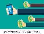 mobile banking illustration | Shutterstock .eps vector #1243287451