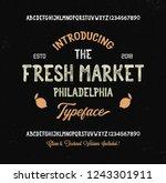 retro styled modern font....   Shutterstock .eps vector #1243301911