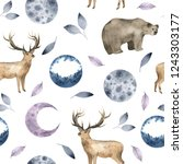 seamless pattern with... | Shutterstock . vector #1243303177