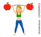 happy young woman exercising...   Shutterstock .eps vector #1243304011