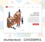 higher education institutions... | Shutterstock .eps vector #1243308901