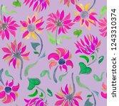 sunflowers watercolor... | Shutterstock . vector #1243310374