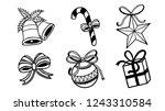 set of christmas ornament... | Shutterstock .eps vector #1243310584