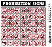 useful prohibition sign... | Shutterstock .eps vector #1243313077