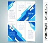 brochure tri fold design... | Shutterstock .eps vector #1243316677