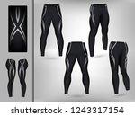 visual drawing of model pants... | Shutterstock .eps vector #1243317154
