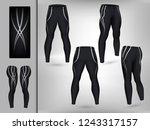 visual drawing of model pants... | Shutterstock .eps vector #1243317157
