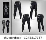 visual drawing of model pants... | Shutterstock .eps vector #1243317157