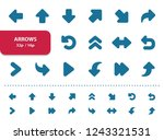 arrows icons. professional ... | Shutterstock .eps vector #1243321531