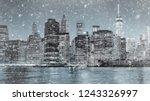toned photo new york city... | Shutterstock . vector #1243326997