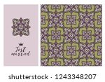 collection greeting cards and... | Shutterstock .eps vector #1243348207
