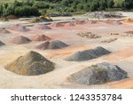 stockyard of sands  pebbles and ... | Shutterstock . vector #1243353784
