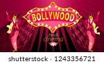bollywood  is the indian hindi... | Shutterstock .eps vector #1243356721