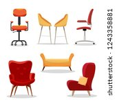 set of chairs. comfortable... | Shutterstock .eps vector #1243358881