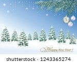 merry christmas and happy new... | Shutterstock .eps vector #1243365274