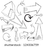 set of hand drawn sketched... | Shutterstock .eps vector #124336759