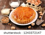 epiphany cake and ingredient | Shutterstock . vector #1243372147