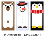 set of winter holiday greeting... | Shutterstock .eps vector #1243382644