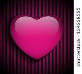 Vector   Glossy Emo Heart. Pin...