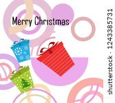 christmas card  gifts  vector... | Shutterstock .eps vector #1243385731