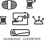 sewing kit  needlework | Shutterstock .eps vector #1243387624