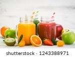 healthy fruit and vegetable... | Shutterstock . vector #1243388971