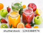 healthy fruit and vegetable... | Shutterstock . vector #1243388974