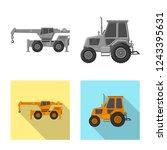 vector design of build and... | Shutterstock .eps vector #1243395631