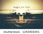 budget for 2019 text with... | Shutterstock . vector #1243403341