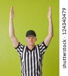 football referee against green... | Shutterstock . vector #124340479