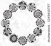 floral background with... | Shutterstock .eps vector #1243410757