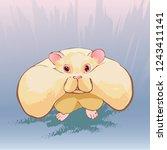 a vector wild shaggy hamser... | Shutterstock .eps vector #1243411141