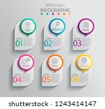 paper infographic template with ... | Shutterstock .eps vector #1243414147