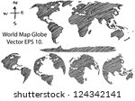 earth globe with world map... | Shutterstock .eps vector #124342141