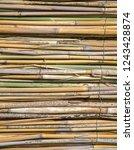 closeup reed mat. reed frame...   Shutterstock . vector #1243428874