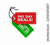 pay day deals and sale tag or...   Shutterstock .eps vector #1243434307