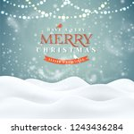 merry christmas winter magic... | Shutterstock .eps vector #1243436284