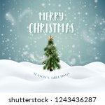 merry christmas winter magic... | Shutterstock .eps vector #1243436287