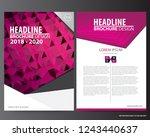 abstract vector modern flyers... | Shutterstock .eps vector #1243440637