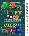 street food truck  flyer...   Shutterstock .eps vector #1243450951