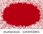 christmas snowflakes blank oval ... | Shutterstock .eps vector #1243452841