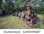 rusty metal old machine in ... | Shutterstock . vector #1243459687