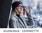 portrait of beautiful pensive... | Shutterstock . vector #1243462774