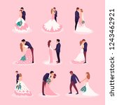 flat style illustration with... | Shutterstock .eps vector #1243462921