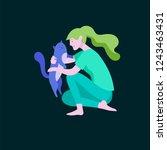 vector character. happy people... | Shutterstock .eps vector #1243463431